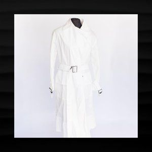 $795 NEW NWT COACH LONG WHITE MILITARY TRENCH COAT